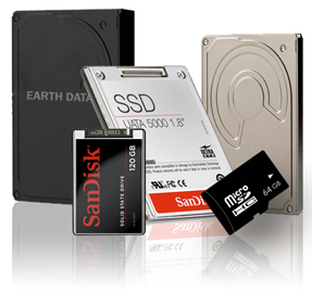 EDR-217 Data Storage Options - Supported Media: FLASH Media, HDD, SSD